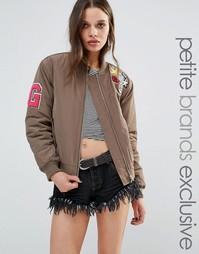 Куртка-пилот со значками Glamorous Petite - Хаки