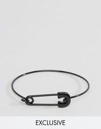 Черный браслет‑манжет с булавкой Designb - Черный