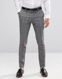 Jack & Jones Premium Skinny Smart Trouser In Flecked Check - Серый
