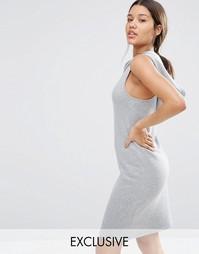 Короткое платье с капюшоном Nocozo - Серый