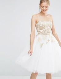 Платье миди для выпускного Chi Chi London
