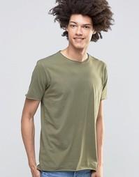 Удлиненная футболка с необработанными краями Kubban - Зеленый