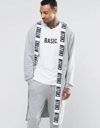 Халат с принтом ASOS - Серый меланж