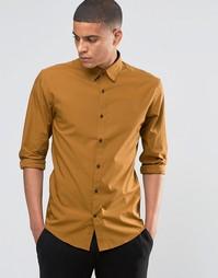 Рубашка узкого кроя Selected Homme - Кэмел