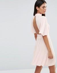 Платье с широкими рукавами Love - Розовый