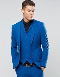 Синий суперузкий пиджак ASOS - Синий