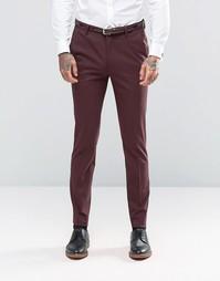 Бордовые зауженные брюки ASOS - Burgundy