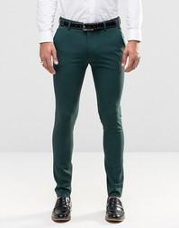 Зеленые супероблегающие брюки ASOS - Зеленый
