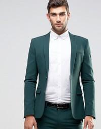 Зеленый супероблегающий пиджак ASOS - Зеленый