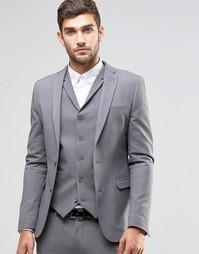 Серый супероблегающий пиджак ASOS - Серый