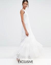Кружевное платье макси с отделкой A Star Is Born - Белый
