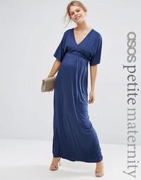 ASOS Maternity PETITE Kimono Maxi Dress - Темно-синий