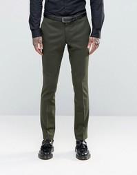 Супероблегающие стретчевые брюки Noose & Monkey - Хаки