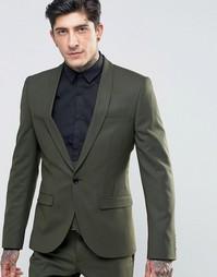 Супероблегающий пиджак Noose & Monkey - Хаки