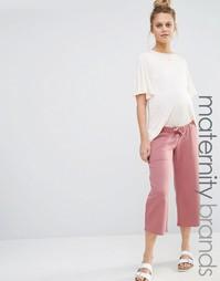 Трикотажная юбка-брюки для беременных Bluebelle Maternity - Розовый