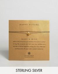 Позолоченное ожерелье Dogeared Make A Wish Happy Future