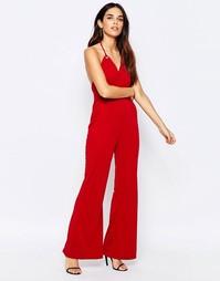 Комбинезон с лямкой через шею Glamorous - Красный