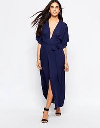 Платье с запахом и рукавами-кимоно Goldie Moon Dance - Синий