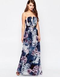 Платье макси с цветочным принтом Little Mistress - Принт