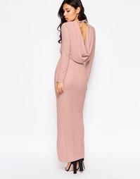 Платье макси с длинными рукавами Twin Sister - Телесный