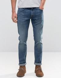 Выбеленные джинсы слим Wrangler - Синий