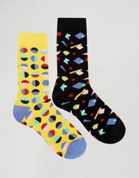 Набор из 2 пар носков с принтом Urban Eccentric - Мульти