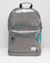 Серебристый рюкзак с отделкой металлик Spiral - Серебряный
