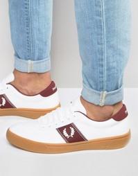 Кроссовки с логотипом и каучуковой подошвой Fred Perry - Белый