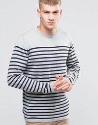 Вязаный свитер в бретонскую полоску Jack & Jones - Серый