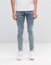 Суперзауженные джинсы с эффектом поношенности G-Star Revend