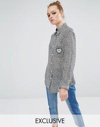 Рубашка бойфренда с принтом и сердечком на кармане Reclaimed Vintage