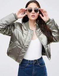 Укороченная дутая куртка ASOS - Хаки