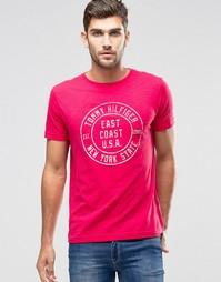 Красная футболка классического кроя с логотипом Tommy Hilfiger