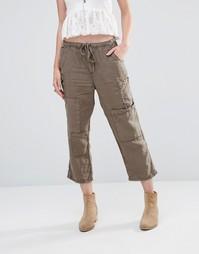 Укороченные брюки в стиле милитари Free People - Армейский