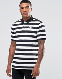 Черное поло в полоску Nike 832881-010 - Черный