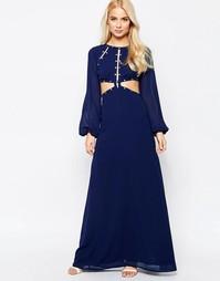 Платье макси с вырезами Jarlo - Темно-синий