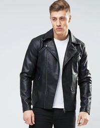Классическая байкерская куртка из кожзаменителя Produkt - Черный