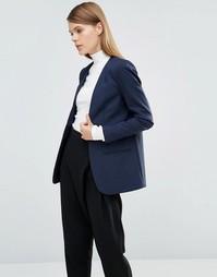 Блейзер с длинными рукавами Selected Vennie - Navy blazer