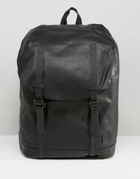 Черный рюкзак из искусственной кожи Spiral Hampton - Черный