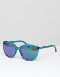 Солнцезащитные очки кошачий глаз CK Jeans - Crystal teal Calvin Klein
