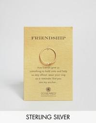 Позолоченное кольцо с якорем Dogeared - Золотой