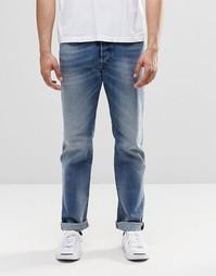 Выбеленные прямые джинсы Diesel Buster 853P - Умеренный выбеленный