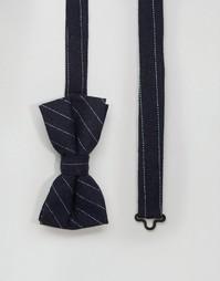 Шерстяной галстук-бабочка Noose & Monkey - Темно-синий