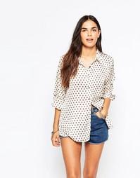 Блузка с мелким принтом Goldie Olivia - Кремовый