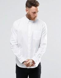 Белая оксфордская рубашка классического кроя с карманом Paul Smith