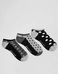 3 пары носков в горошек Penguin - Black dots