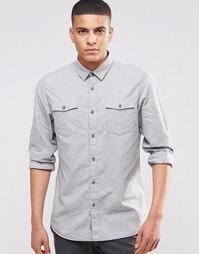 Рубашка с двумя карманами Selected Homme - Светло-серый