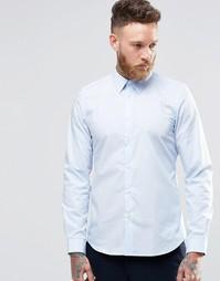 Строгая рубашка слим с контрастной подкладкой манжет Paul Smith - Sky