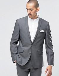 Темно-серый супероблегающий пиджак Ben Sherman Camden - Серый