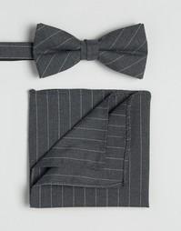 Галстук и платок для пиджака Selected Homme - Серый